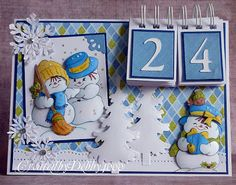 Countdown to Christmas using your Bind it all machine. Love this.