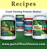 Check out great tasting NuMedica Total Vegan Protein Powder recipes at www.partellhealthstore.com!