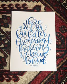 Custom Watercolor Brush Handlettered Quote in Amy Style. Calligraphy. Modern…