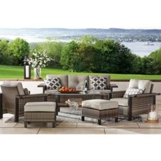 Member's Mark Agio Manchester Patio Deep Seating Set with Sunbrella® Fabric - Sam's Club