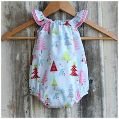 Christmas Seaside Playsuit/Romper Sizes 0000-2 by Handmade By 3 Little B's | madeit.com.au |