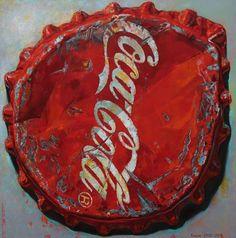 """Saatchi Online Artist Andrei Krioukov; Painting, """"Coca Cola SOLD"""" #art"""