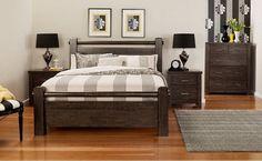Chambres à coucher lit en bois massif