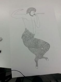 Faun drawing