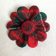 Hand made unique Tweed flower brooch 18 by SkyeBlossoms on Etsy