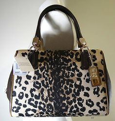 Love this Leopard COACH MADISON MINI SATCHEL BAG @eBay #FOLLOWITFINDIT Great #gift for Mom!