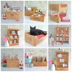Wood box diy on Reciclagem, jardinagem e decoracao facebook page