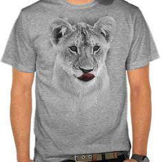 Female lion tee - animal t-shirt - artsivaris