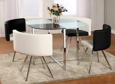 Modern dining room furniture ideas metal elements small dining table