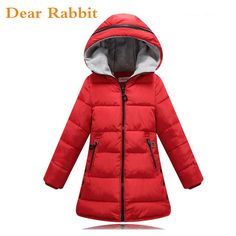 9efac6faa 2017 Autumn Winter jacket for girls clothes Cotton Padded Hooded Kids Coat  Children clothing girl Parkas enfant Jackets & Coats - Kid Shop Global -  Kids ...