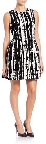 Calvin Klein Graphic Fit-and-Flare Scuba Dress Scuba Dress, Calvin Klein Dress, Dresses For Sale, Fit And Flare, Lady, Fitness, Fashion, Scuba Wetsuit, Moda