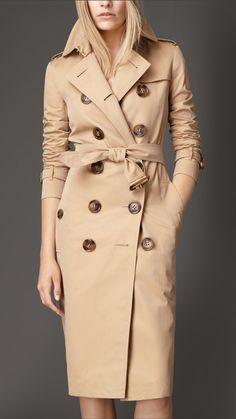 Cotton Gabardine Trench Coat | Burberry