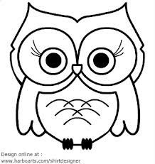 Cute Owl Drawing More Outline Owls Clip Art Google Search