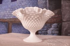 Hey, I found this really awesome Etsy listing at https://www.etsy.com/listing/231326601/hobnail-large-pedestal-bowl-fenton-milk