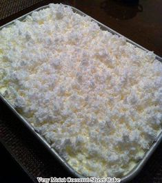 Very Moist Coconut Sheet Cake – Cook and Bless