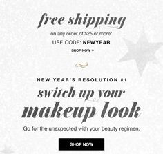 FREE SHIPPING on any order of $25 or more. USE CODE: NEWYEAR - Expires Midnight December 31 2016  www.youravon.com/wvolz #avon #newyears2017 #rockout2017