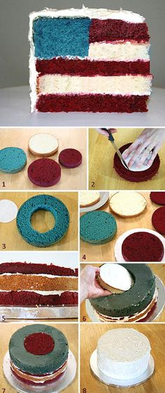 American flag cake :) Should try this out this 4th of July!