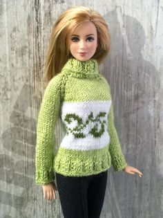 Hand-knitted green apple green sweater with от OrdaliaHandwork
