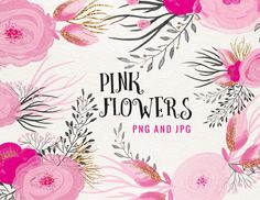 Check out Pink Flowers by Webvilla on Creative Market
