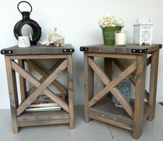 rustic bedside table - Google Search