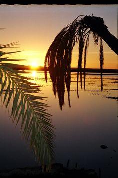 Salt Lake in Siwa Oasis, Egypt