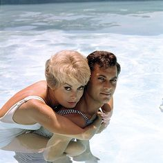 Tony Curtis and Janet Leigh, photographed by Milton Greene, 1961.