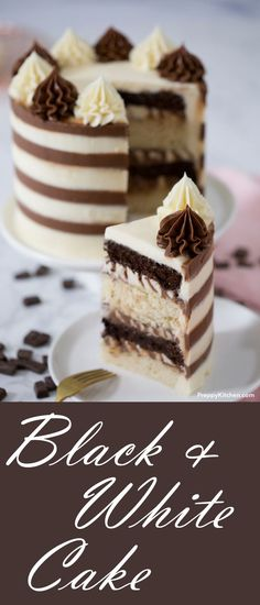 Black and White Cake for when you want both Chocolate Cake and Vanilla Cake.