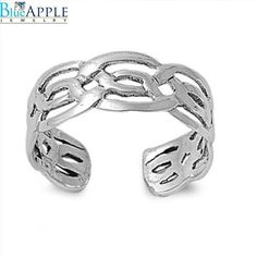 Genuine Hallmarked Polished Sterling Silver Adjustable Plain Band Toe Ring 5mm To Enjoy High Reputation In The International Market Toe Rings Fashion Jewelry