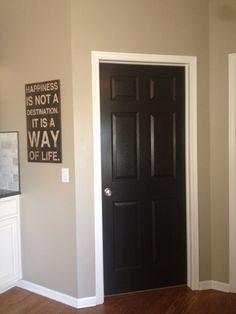 on pinterest black doors black interior doors and white trim. Black Bedroom Furniture Sets. Home Design Ideas