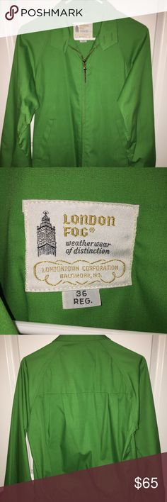 ⏰VINTAGE London Fog 1960's Jacket⏰ Excellent condition. I was told by the vintage shop I purchased it from that it had never been worn and then I too never wore it, so it is in great condition! Awesome shade of green! Fits a size small men's. Comes from a smoke free, pet free home. London Fog Jackets & Coats Lightweight & Shirt Jackets