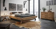 Hasena Bloc Stabil Inca Nakio Character Solid Oak Bed in a Vintage Finish Bed Frame Design, Bed Design, Lit Plate-forme Diy, Bed Frames Uk, Industrial Bed Frame, Solid Oak Beds, Homemade Beds, Diy Bett, Cosy House