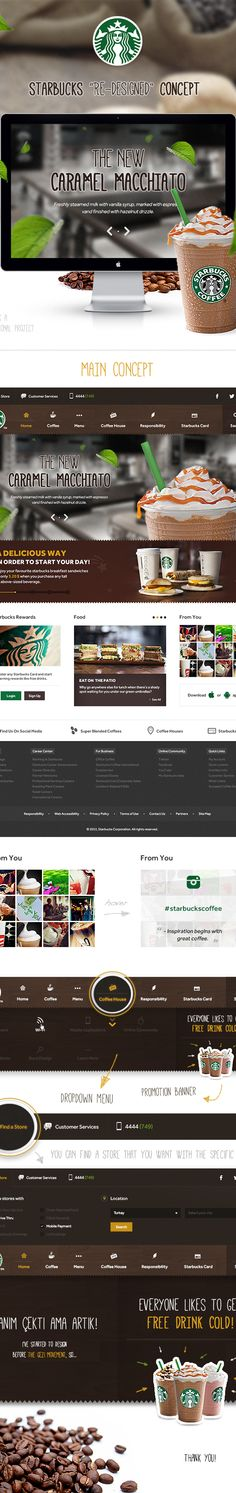 Starbucks / Redesigned by Eray Demirsoy, via Behance