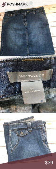Ann Taylor Denim Skirt in SIZE 14 Ann Taylor Denim Skirt in SIZE 14 Ann Taylor Skirts