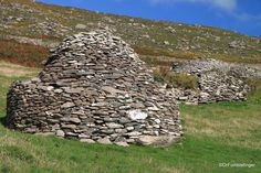Dingle Peninsula, Beehive homes in Ireland.  More than 1000 years old!