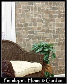 stone wall covering prepasted textured vinyl wallpaper home improvement decor