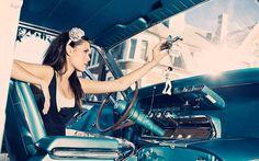 hot chicks and classic cars! Digital Photography School, Pin Up Photography, Fashion Photography, Wedding Photography, Trondheim, Car Girls, Pin Up Girls, Vintage Pin Ups, Pin Up Poses