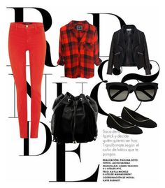 """""""RED AND BLAK"""" by ericka-lira ❤ liked on Polyvore featuring beauty, Rails, J Brand, Zizzi, Diane Von Furstenberg, Steve Madden and Yves Saint Laurent"""