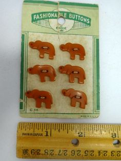 Vintage Bakelite Elephant Buttons 6 on the by Allyssecondattic, $25.00