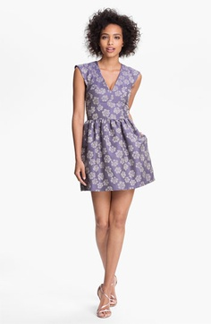 French Connection 'Fantasy' Jacquard Fit & Flare Dress | Nordstrom