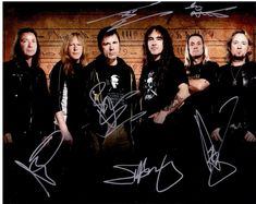 signatures of  iron  maiden | Your Help Needed: Please Review These Australian Autograph Websites ...