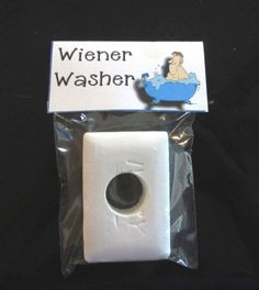 MANS SOAP WIENER Washer  mature gag gift soap by CraftieIdeas, $3.00...sorry too funny not to repost!!