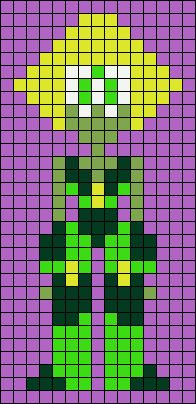 Peridot Steven Universe Perler Bead Pattern