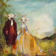 "Susan Siegel.  Untitled, 2011. Oil on linen, 12 x 12""."