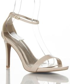 Women Open Toe Ankle Strap Sandal Pump NUDE PATENT #Qupid #OpenToe