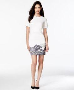 kensie Mountain-Graphic Sheath Dress | macys.com