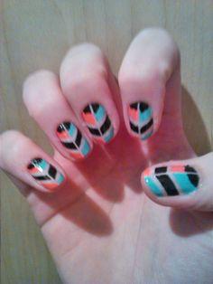 #nailart #stripes