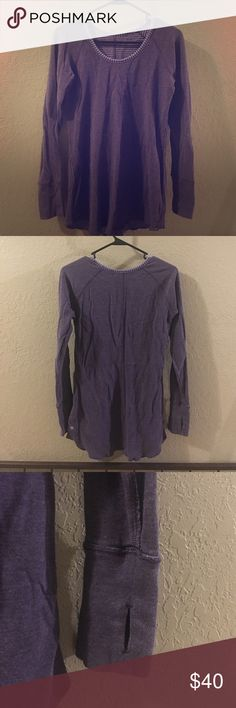 Lulu Lemon reversible sweatshirt with thumb holes Lulu Lemon reversible sweatshirt with thumb holes.  EUC.  Size tag is gone but I'm usually a 4/6 in Lulu and it fits well. lululemon athletica Tops Sweatshirts & Hoodies