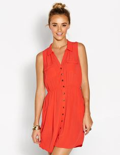Get Dressed at Dotti From Day to Party Dresses - Cocktail, Maxi, Casual Dresses & More. Shop the Fun Range of Womens Dresses, Jumpsuits & Playsuits. Shirt Blouses, Shirts, Blouse Online, Playsuits, Party Fashion, Get Dressed, Casual Dresses, Party Dress, Shirt Dress
