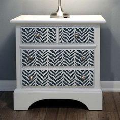 Furniture-stencil-zebra-stenciled-nightstand-craft-stencils