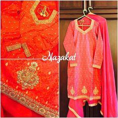 This beauty just doesnt need a filter  Zardozi love  This piece is done with resham and zardozi detailing! What do you think of this one? Now this piece can be done in any colour or we can take inspiration from this and create something new for you! DM or whatsapp for details Shipping worldwide For more designs and updates follow us on facebook at: www.facebook.com/nazakatjal #pink #hotpink #magenta #brocade #pearls  #royal #zardozi #bridetobe #punjabibride #sikhbride #zari #indian #india...